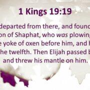 RECEIVING THE PROPHETIC MANTLE