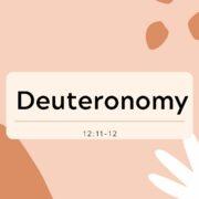 Deuteronomy.